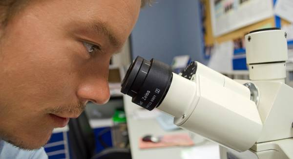 Loupe binoculaire de laboratoire